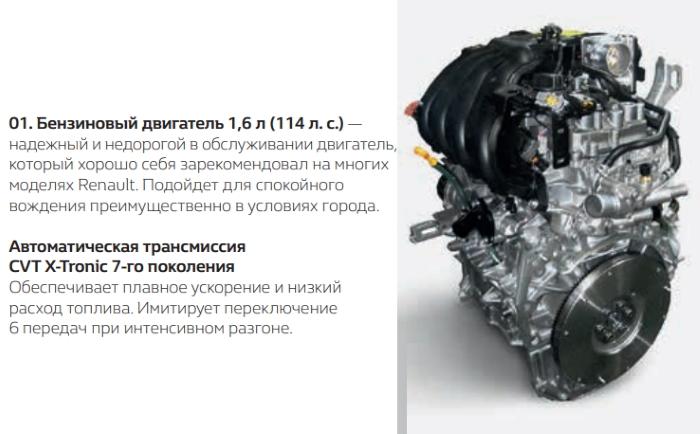 Новый Рено Каптур 2021 двигатель 1.6