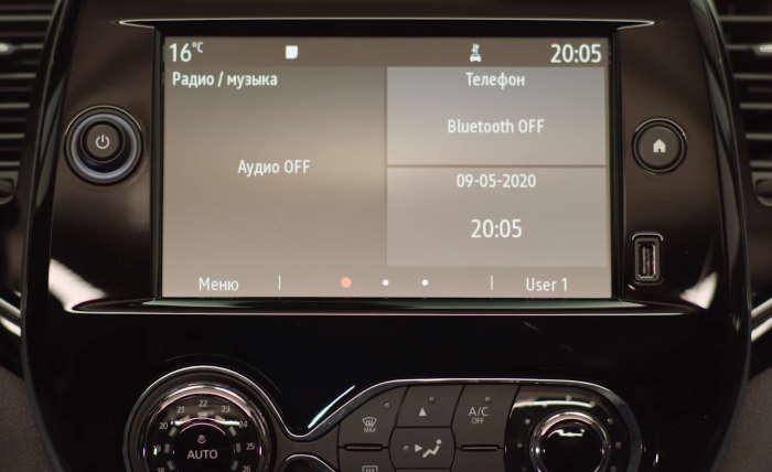 Новый Рено Каптур 2021 сенсорный экран