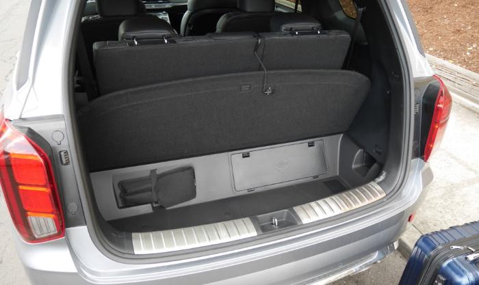 новый Хендай Палисад фото багажника