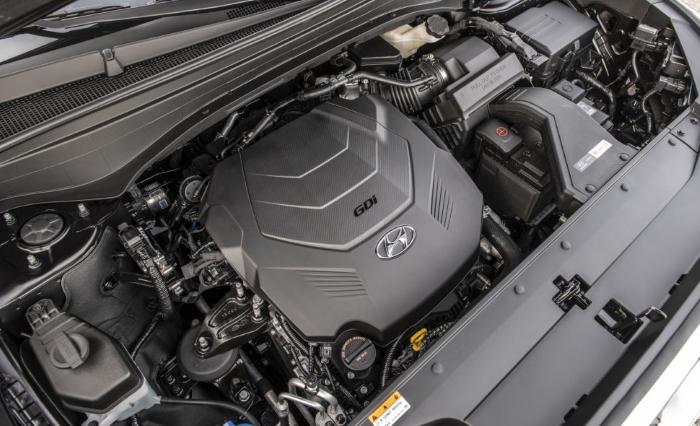 новый Хендай Палисад фото двигателя