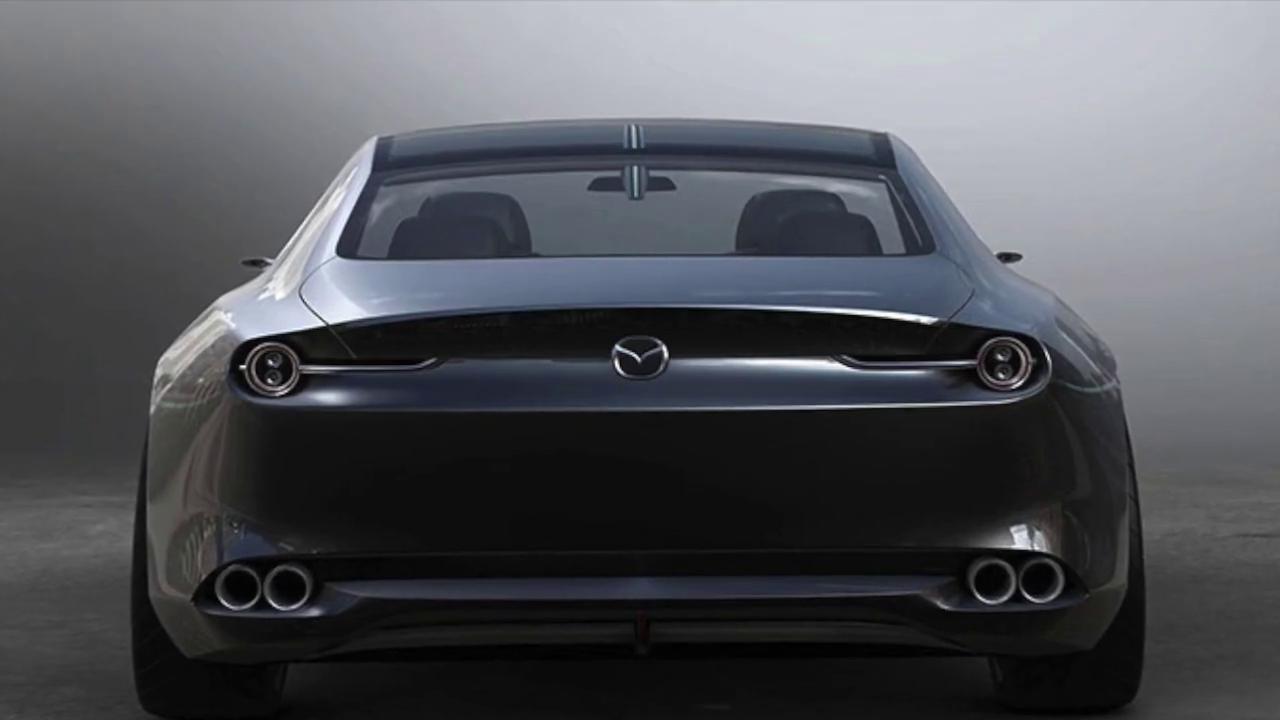 Мазда 6 2021 в новом кузове вид сзади